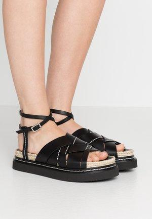 YASMINE PLATFORM  - Loafers - black