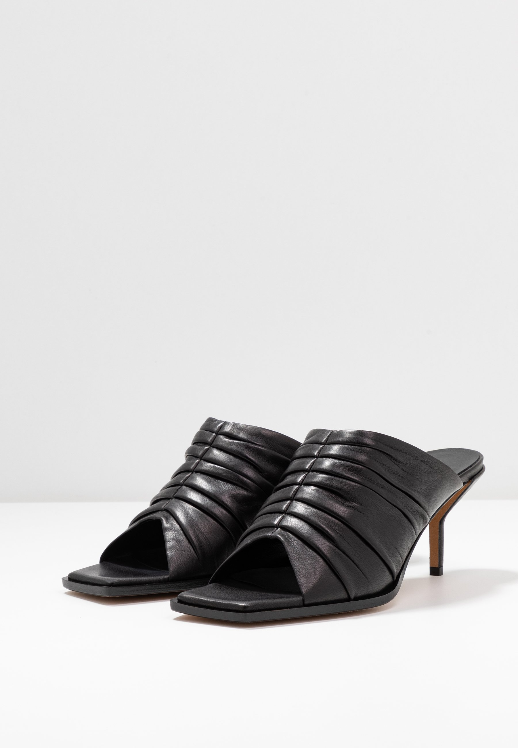 3.1 Phillip Lim GEORGIA RUCHED MULE - Klapki - black
