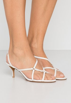 LOUISE STRAPPY RINGS - Sandals - ivory