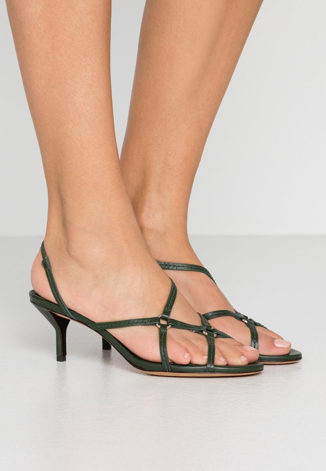 LOUISE STRAPPY RINGS - Riemensandalette - green