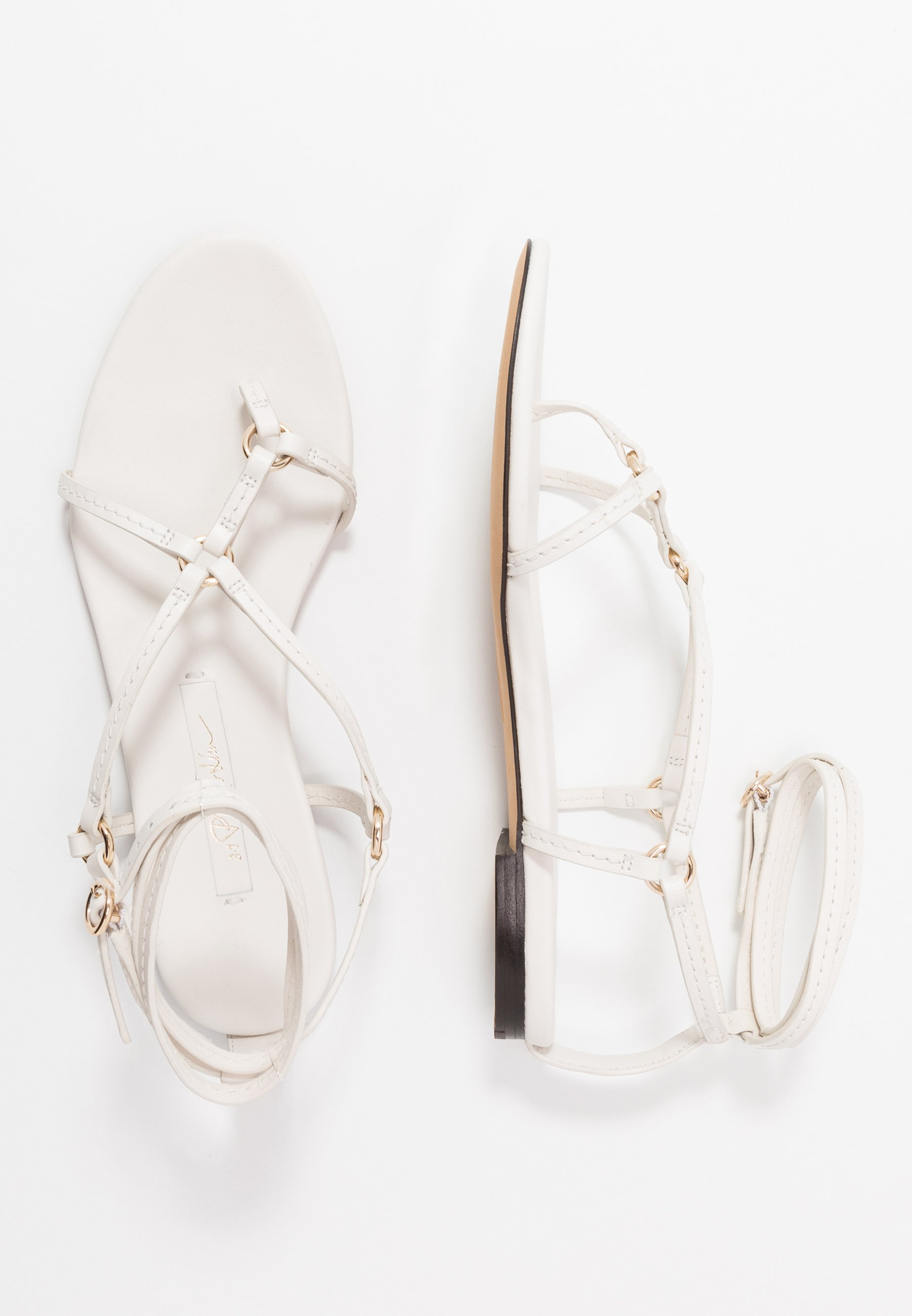 3.1 Phillip Lim Louise Strappy Flat Rings - Flip Flops Ivory