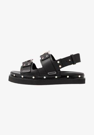ALIX - Sandály na platformě - black