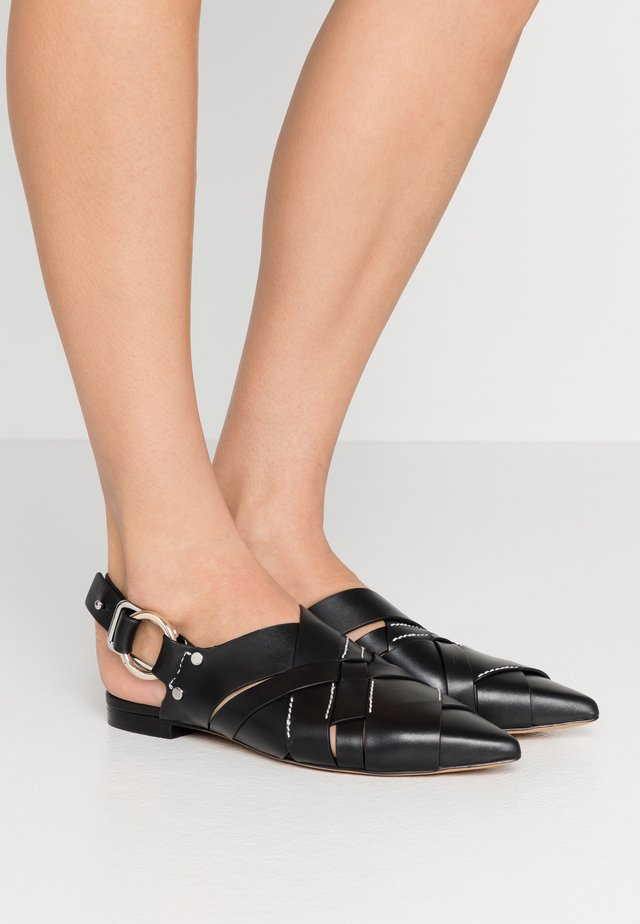 DEANNA POINTY FLAT - Instappers - black