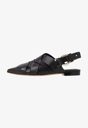 DEANNA POINTY FLAT - Loaferit/pistokkaat - black