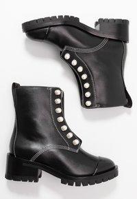 3.1 Phillip Lim - HAYETT LUG SOLE ZIPPER BOOT WITH PEARLS - Støvletter - black - 3