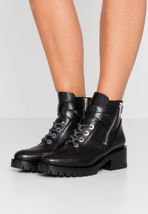 HAYETT LACE UP BOOT - Ankle Boot - black