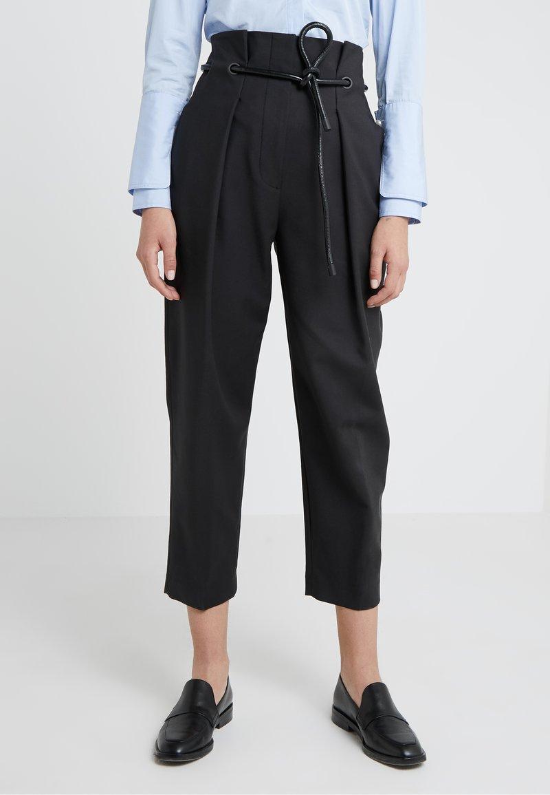 3.1 Phillip Lim - ORIGAMI PLEAT PANT WITH BELT - Trousers - black
