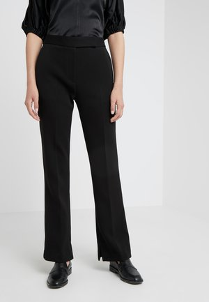 TOPSTITCH SEAMLINE STRUCTURED  PANT - Trousers - dark midnight