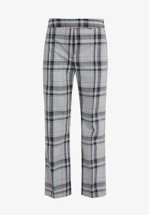 PLAID TOPSTITCH SEAMLINE PANT - Kalhoty - white/navy/hot pink