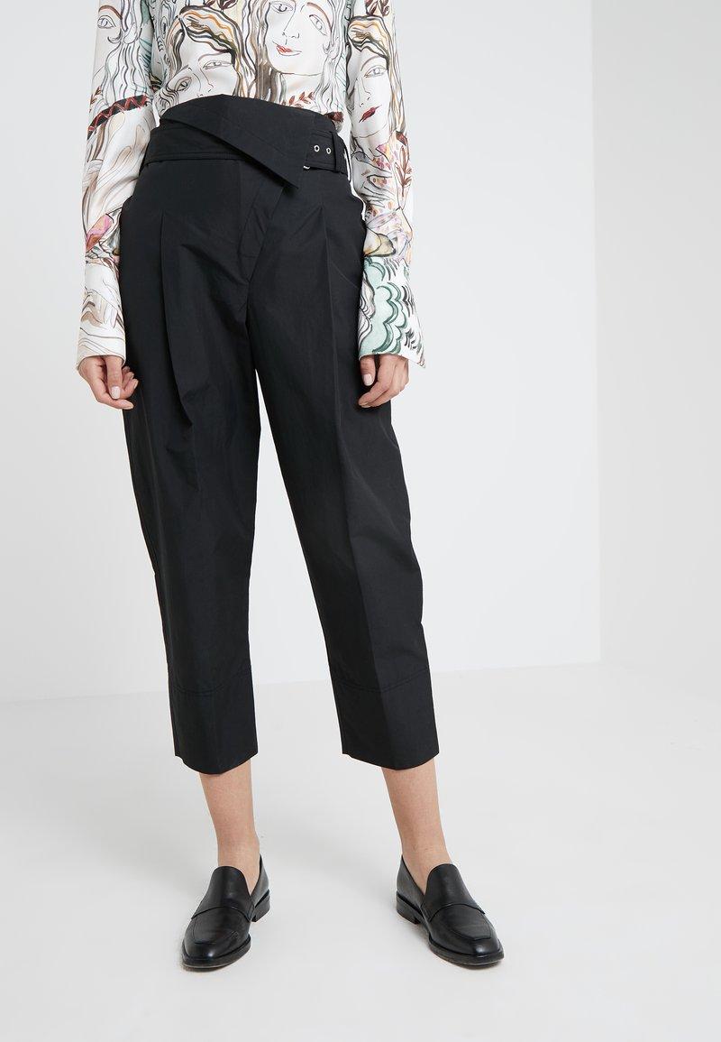 3.1 Phillip Lim - BELTED OVERLAP TROUSER - Trousers - black