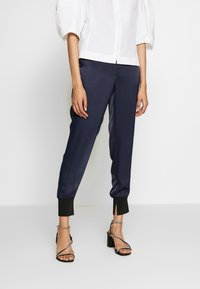 3.1 Phillip Lim - SATIN JOGGER - Trousers - midnight - 0