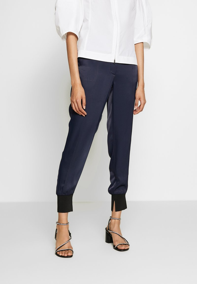 3.1 Phillip Lim - SATIN JOGGER - Trousers - midnight