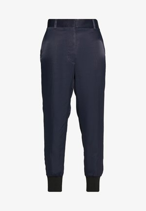 SATIN JOGGER - Trousers - midnight