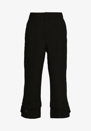 TROUSERS BELTED CUFF - Pantalon classique - black
