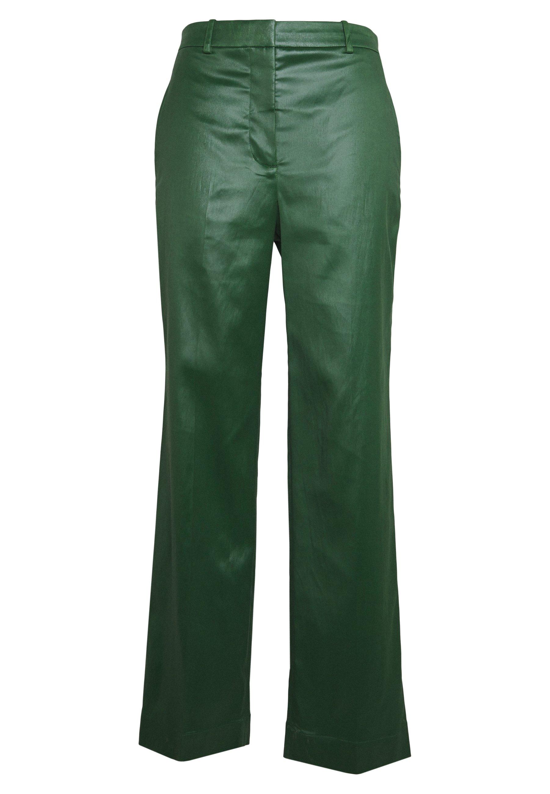 3.1 Phillip Lim Full Leg Trouser - Tygbyxor Vetiver Green