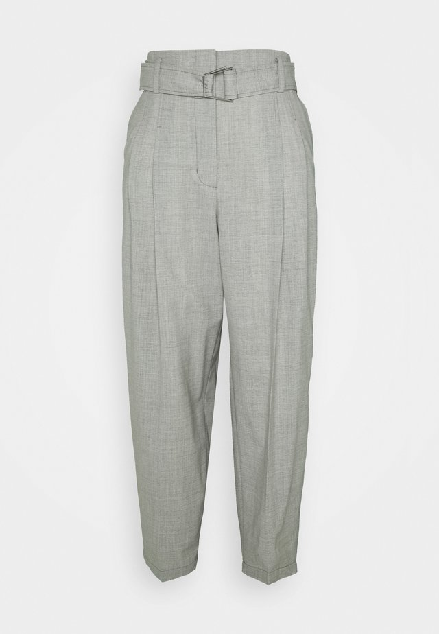 BELTED UTILITY PANT - Trousers - ash grey
