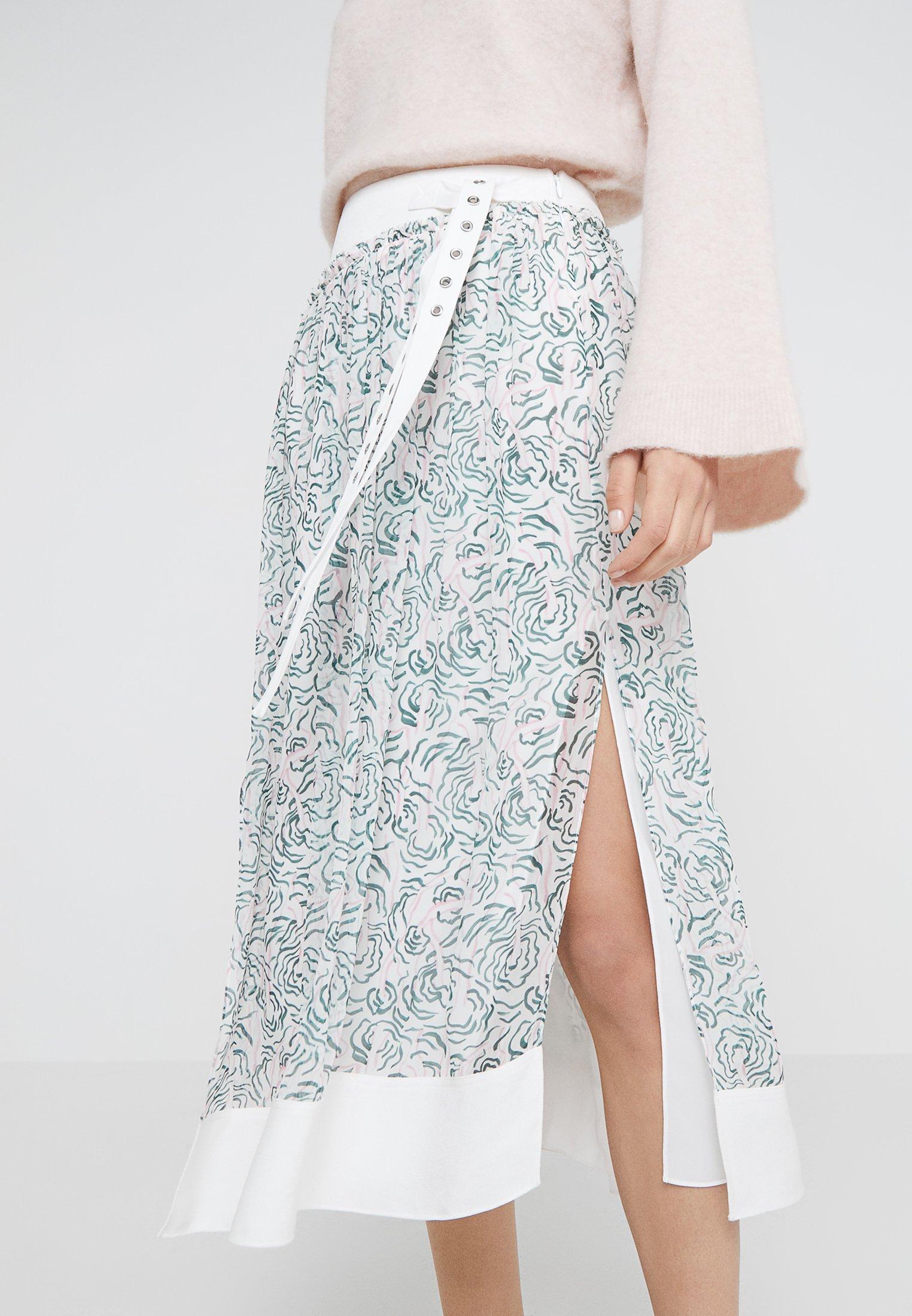1 Phillip Trapèze Belted Shirring SkirtJupe multi 3 White Lim POuXikZ
