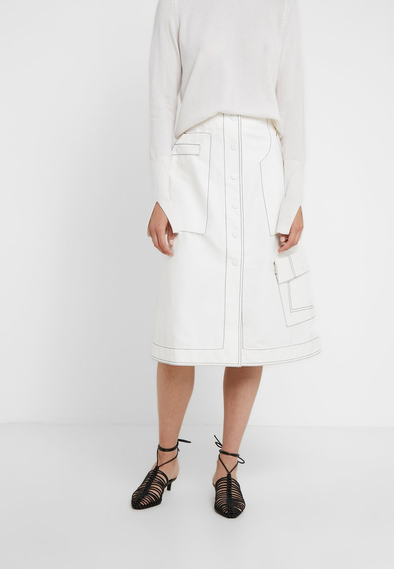 3.1 Phillip Lim - HIGH WAISTED SKIRT - Jupe trapèze - off-whit
