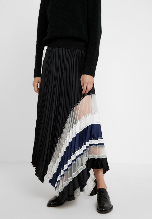 PLEATED SKIRT WAIST BAND - A-snit nederdel/ A-formede nederdele - black/navy