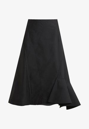 BONDED RUFFLE HEM SKIRT - Áčková sukně - black