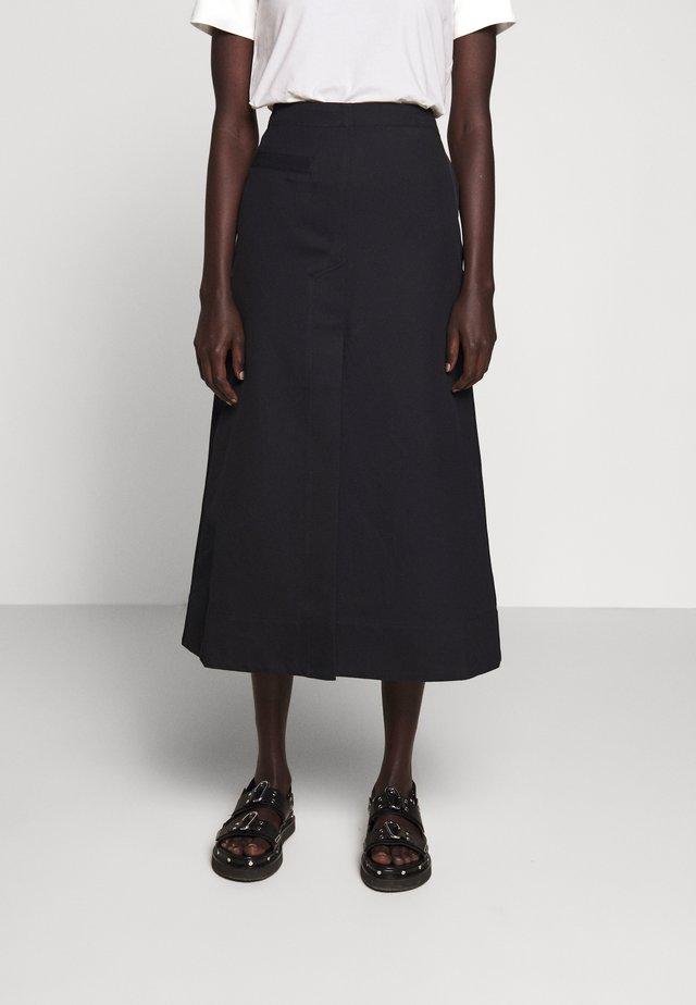 SIDE POCKET SKIRT FRONT SLIT - A-line skirt - midnight