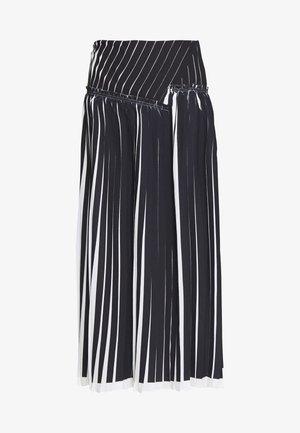 KNIFE PLEATED SKIRT - A-snit nederdel/ A-formede nederdele - black/white