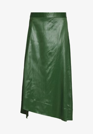 SKIRT WITH SIDE SNAP - Spódnica trapezowa - vetiver green