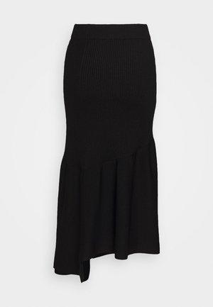 A LINE SKIRT PEPLUM HEM - Pouzdrová sukně - black