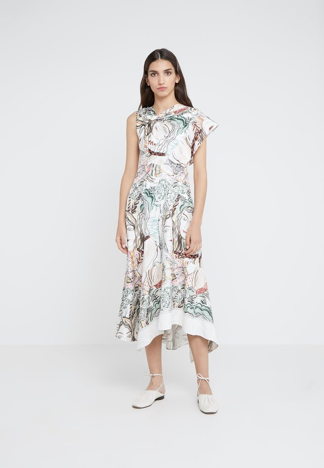 TWISTED ASYMMETRICAL DRESS - Robe d'été - white/multi