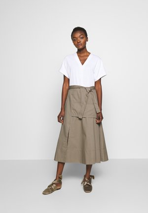 UTILITY DRESS - Day dress - white/taupe