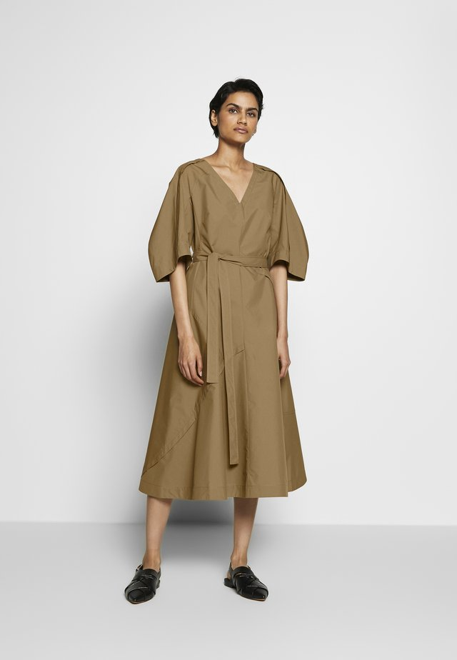 BALLOON SLEEVE DRESS - Sukienka letnia - cedar