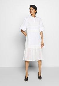 3.1 Phillip Lim - MULTIMEDIA DRESS PLEATED  - Shirt dress - white - 0