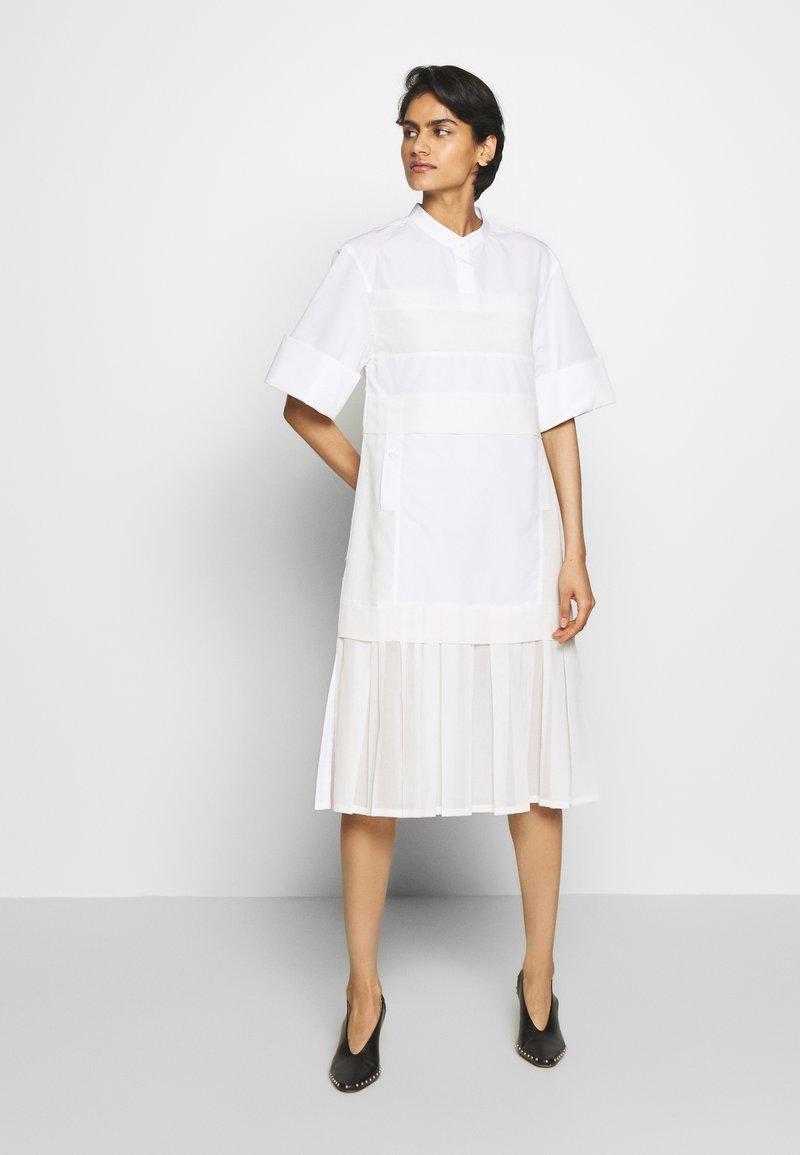 3.1 Phillip Lim - MULTIMEDIA DRESS PLEATED  - Shirt dress - white