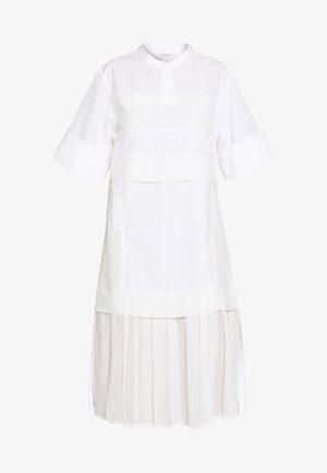 MULTIMEDIA DRESS PLEATED  - Shirt dress - white