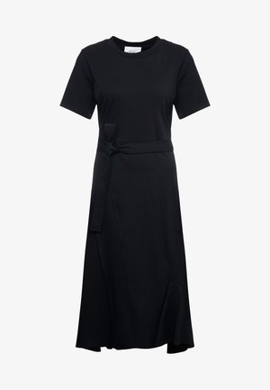 COMBO DRESS - Jersey dress - black