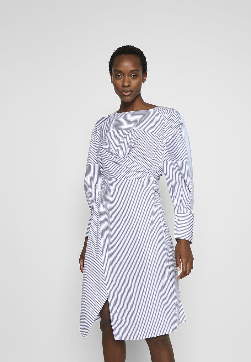 3.1 Phillip Lim - STRIPED OVERLAP DRESS - Day dress - navy/cobalt/white