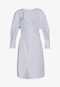 3.1 Phillip Lim - STRIPED OVERLAP DRESS - Day dress - navy/cobalt/white - 4