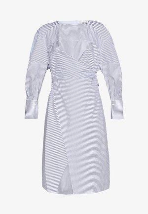 STRIPED OVERLAP DRESS - Kjole - navy/cobalt/white