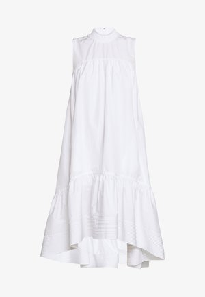 DRESS SMOCK NECK - Denní šaty - white