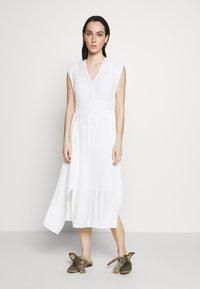 3.1 Phillip Lim - VNECK MUSHROOM PLEATED DRESS - Day dress - white - 0