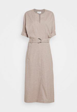 BELTED DOLMAN SLEEVE DRESS - Vestito estivo - warm grey melange