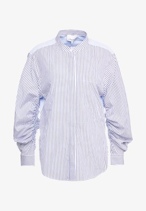 STRIPED SHIRT GATHERED  - Camicia - blue/white