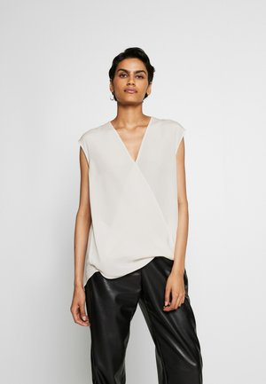SOFT DRAPED BLOUSE - Bluzka - white