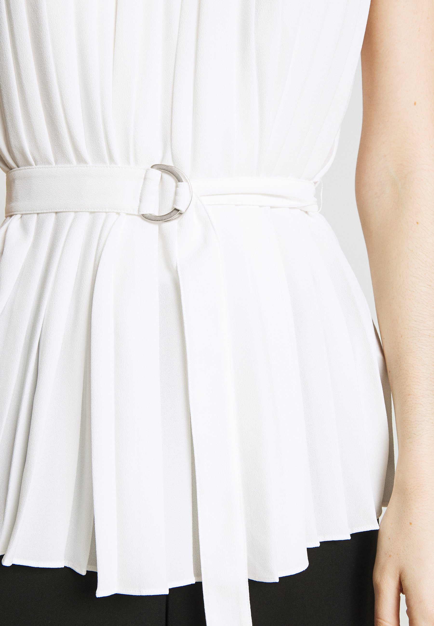 3.1 Phillip Lim KNIFE PLEATED BELTED TANK - Blouse - white