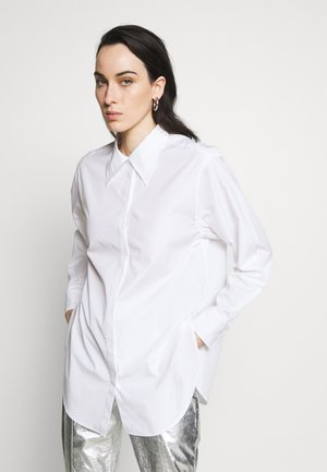 POPLIN EXAGGERATED COLLAR TOP - Blouse - optic white