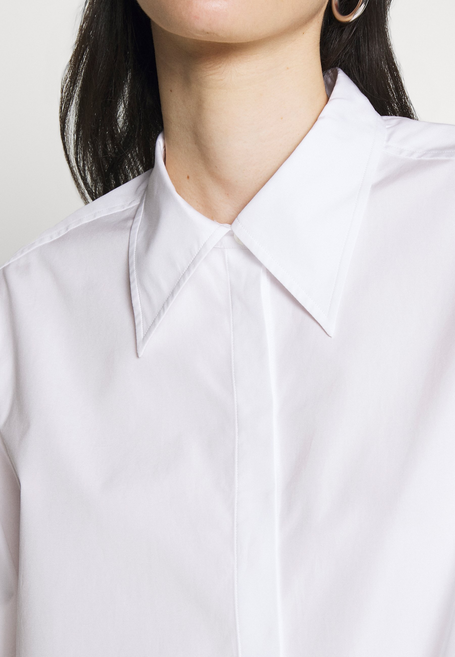 3.1 Phillip Lim POPLIN EXAGGERATED COLLAR TOP - Blouse - optic white