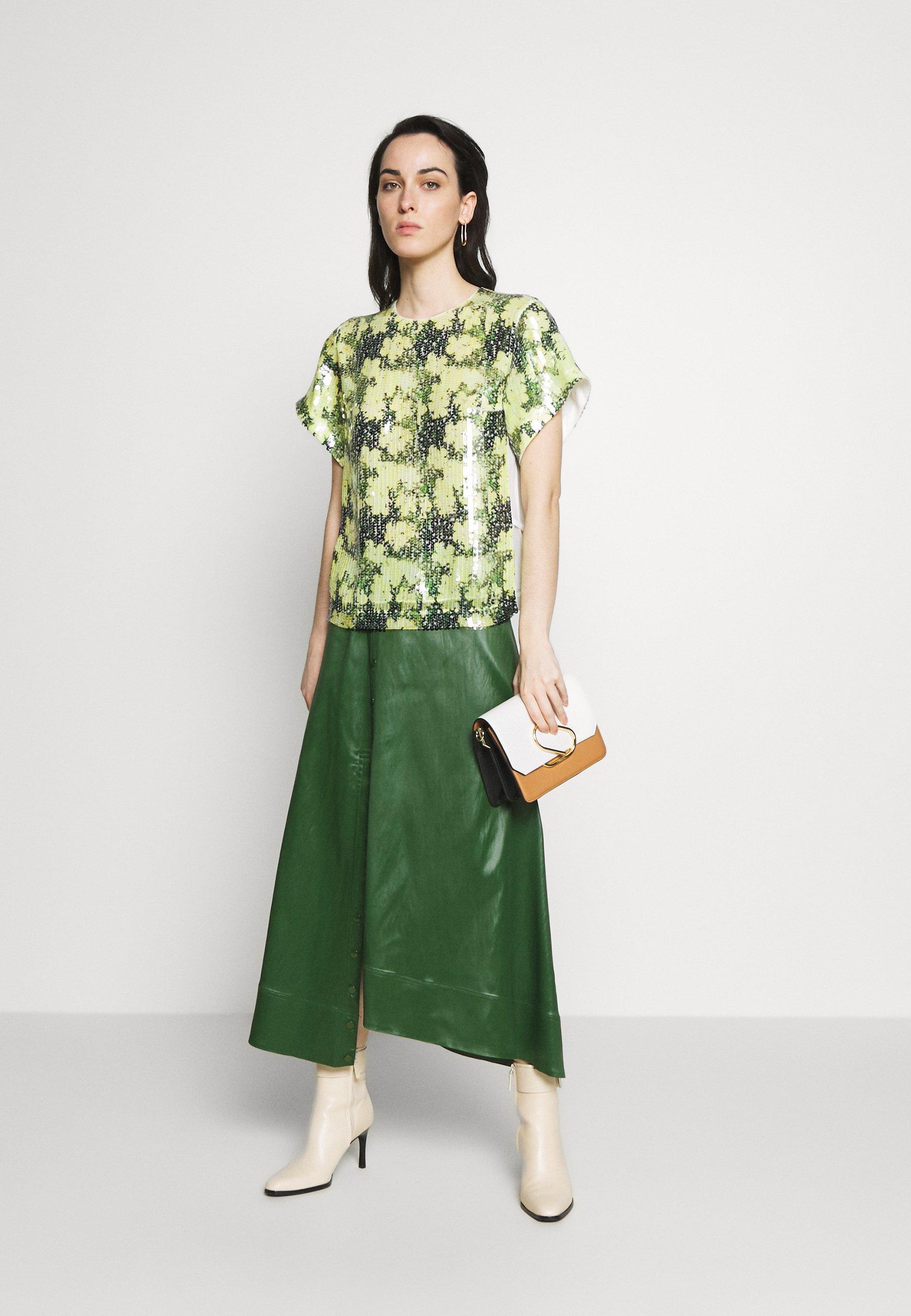 3.1 Phillip Lim Daisy Print Sequin - Blus Yellow