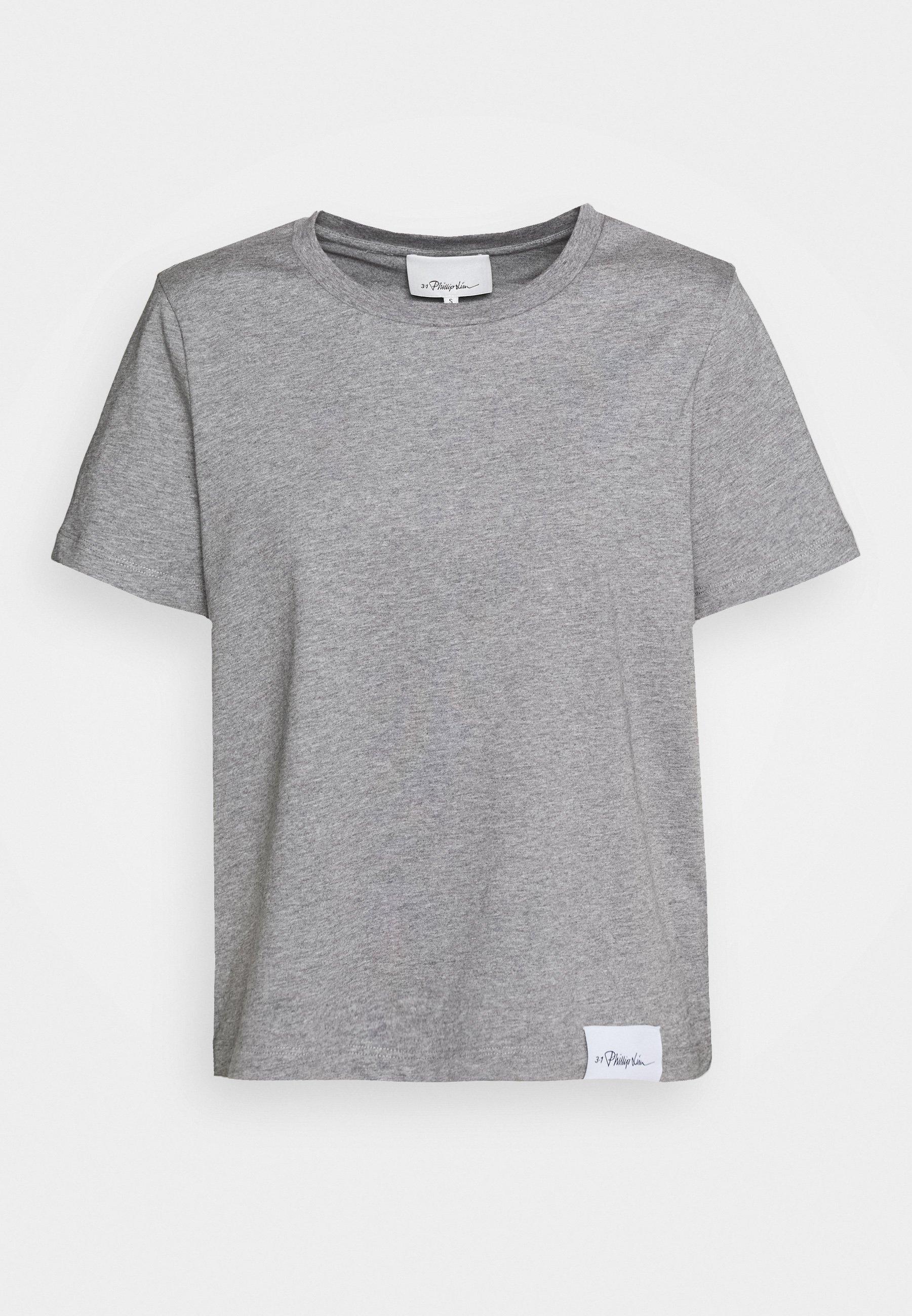 3.1 Phillip Lim LOGO CREW - T-shirt basic - grey melange 8tv8d15i