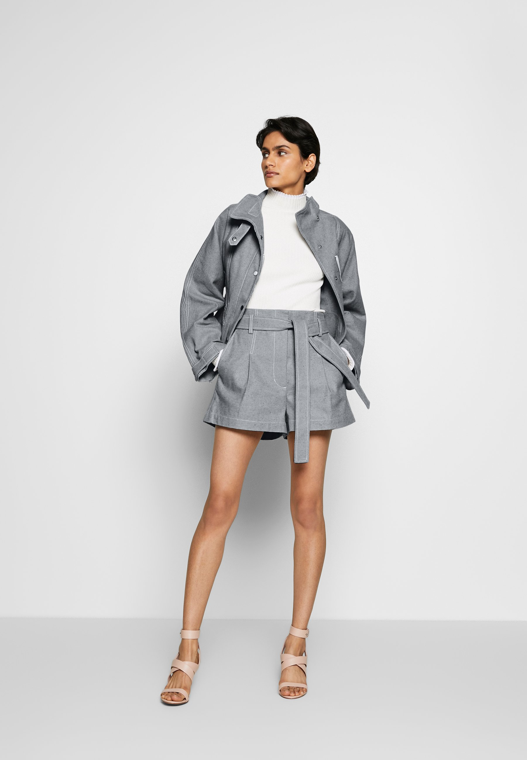3.1 Phillip Lim Biker Jacket - Jeansjacka Light Blue
