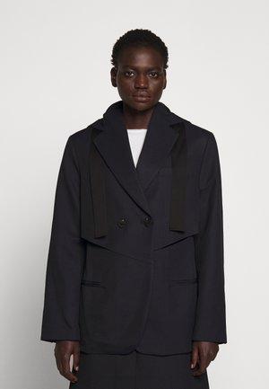 HOODED CUTOUT - Short coat - midnight